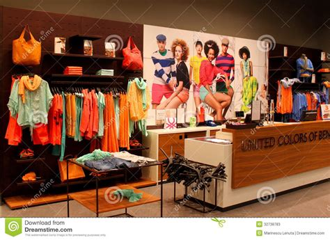 de colores store united colors of benetton clothes store editorial