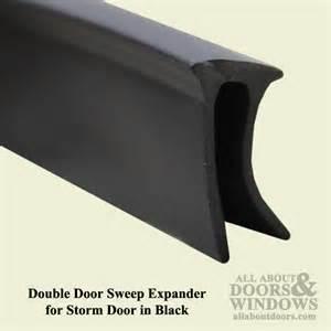 larson door sweep expander for door black