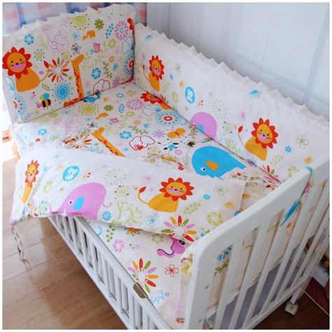 Baby Cot Bedding Sets Promotion 6pcs Strawberry Baby Bedding Products Bedding Sets Cot Set Crib Bumper Bed Sheet