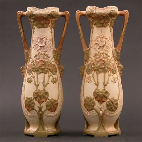 monumental royal dux ceramic vases 06 04 04 sold 460