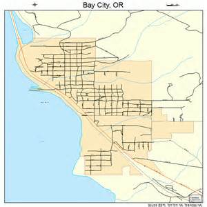 map of bay city bay city oregon map 4104800