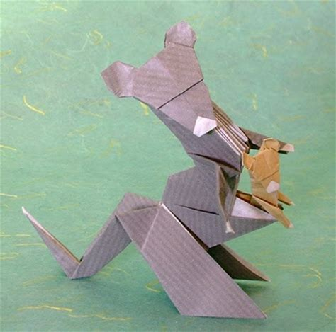 Origami Kangaroo Easy - design origami and craft easy arts and