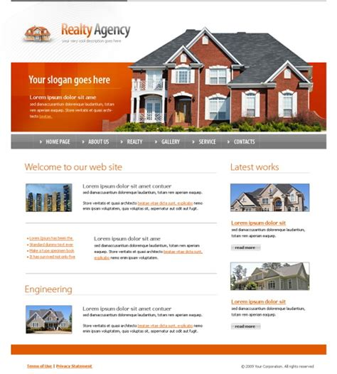 5571 Real Estate Building Website Templates Dreamtemplate One Page Real Estate Website Templates