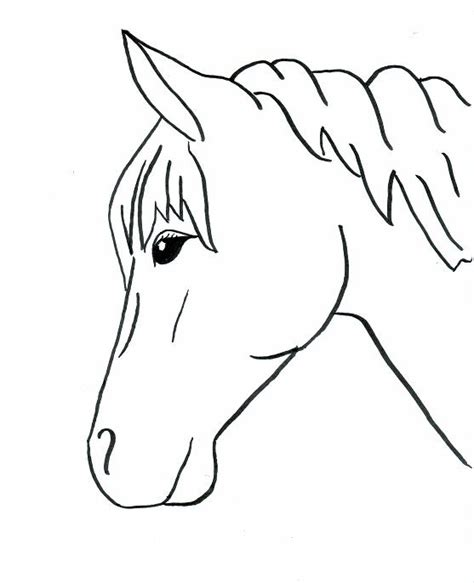 simple horse coloring page horse outlines to trace horse drawings to trace horses