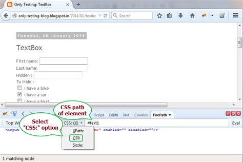 css xpath tutorial steps to get element xpath css using firebug and firepath