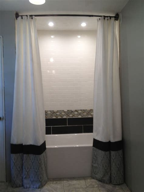 1000 Images About Shower Curtain Drapes 2 Shower Ceiling To Floor Drapes