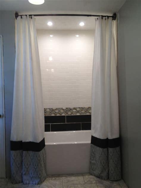 Floor to ceiling shower curtains por mi casa pinterest