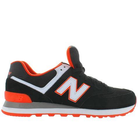 New Balance Black And Orance new balance 574 black orange suede mesh plus