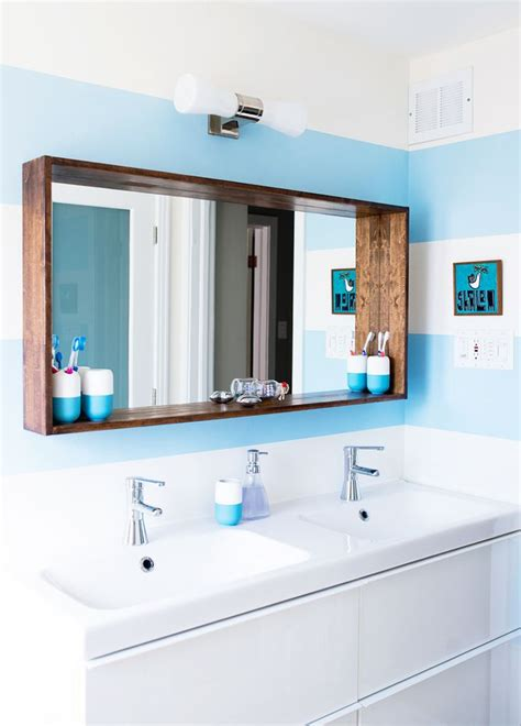 Ideas For Bathroom Mirrors by Before After A Big Sea Of Bright Apartment Interiors