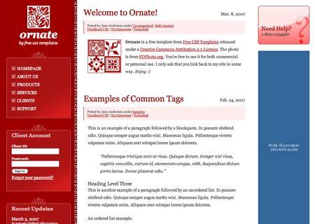 30 Free Three Column Website Templates 3 Column Website Template