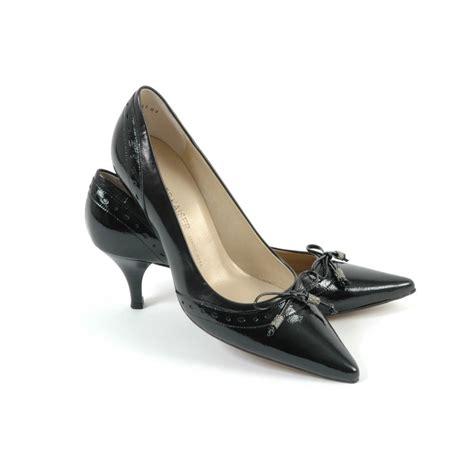 kitten heel shoes ploen womens kitten heel shoes in black leather kitten