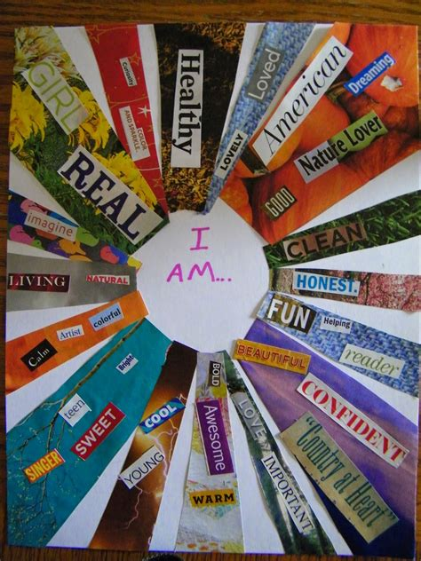 therapeutic ideas quot i am quot collage project need to do this with the