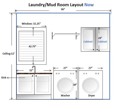 laundry room layout with measurements search