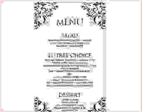 6 menu template word procedure template sle