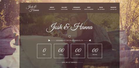 countdown html template 20个响应式html婚礼网站模板下载 设计前沿
