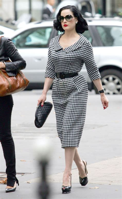 Fashion That Made You Think In 2007 by Dita Teese Works The Houndstooth Trend Fashion