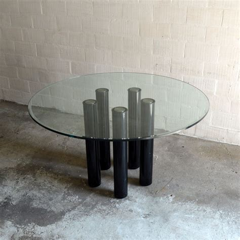 dining table with six chairs dining table with six chairs by marco zanuso for zanotta