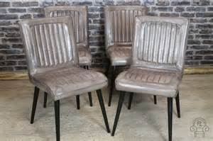 Antique Church Pews Industrial Style Leather Chair In Clay Dining