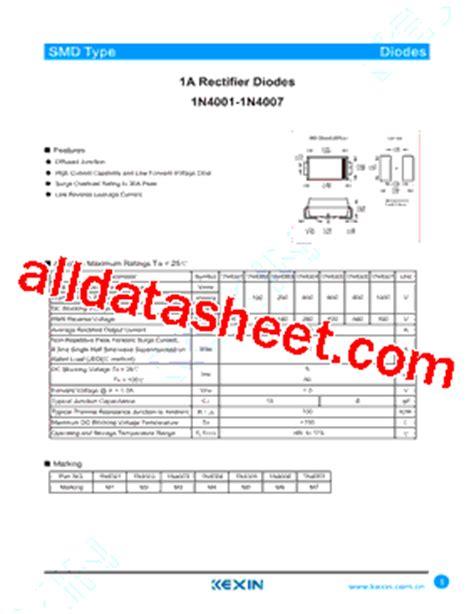 1n4001 smd diode datasheet 1n4001 datasheet pdf guangdong kexin industrial co ltd