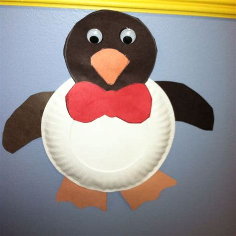 How To Make A Paper Plate Penguin - preschool crafts and worksheets
