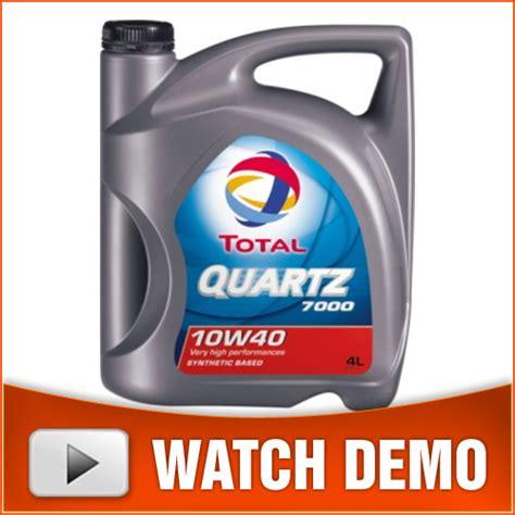 Oli Total Quartz 7000 10w40 total quartz 7000 10w40 semi synthetic petrol diesel engine 5 litres ebay
