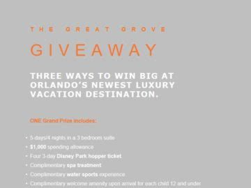 Resort Sweepstakes - grove resort sweepstakes