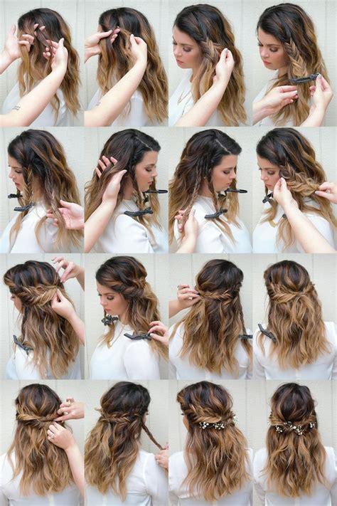 howtododoughnut plait in hair fishtail tutorial fishtail half up hair how to