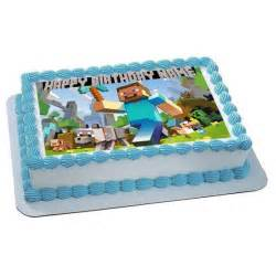 items similar to minecraft personalized edible image cake topper on etsy