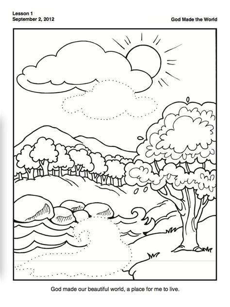 coloring pages creation earth preschool creation coloring pages many interesting cliparts