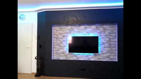 Tv Led Wall tv beamer wall with led lighting diy