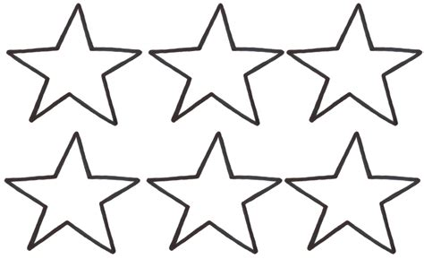 coloring page of a large star small star template clipart best