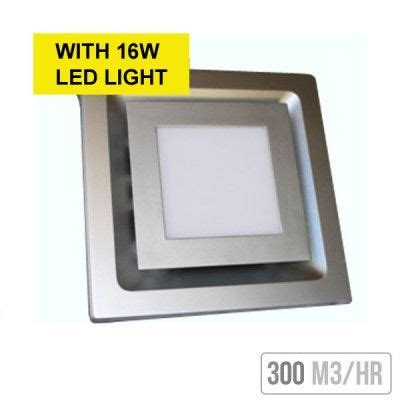 square exhaust fan with 16w led light white � victor st