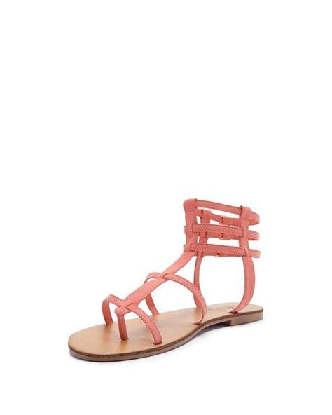 gladiator sandals forever 21 forever 21 faux suede gladiator sandals in pink lyst