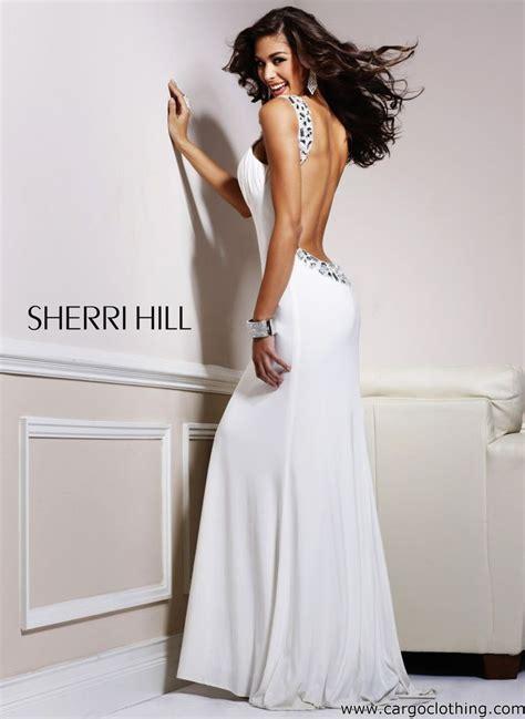 Sherri Hill 1453 Backless Jewelled Dress White Silver US 4 UK 8 eBay