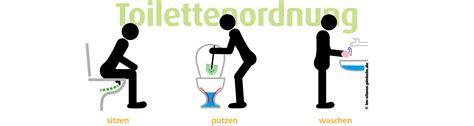 Aufkleber Toilettenordnung by Toilettenordnung Piktogramme Im Sitzen Pinkeln