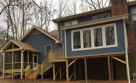 Sunroom On Deck Cost Raleigh Combination Project Sunroom Screened Porch And