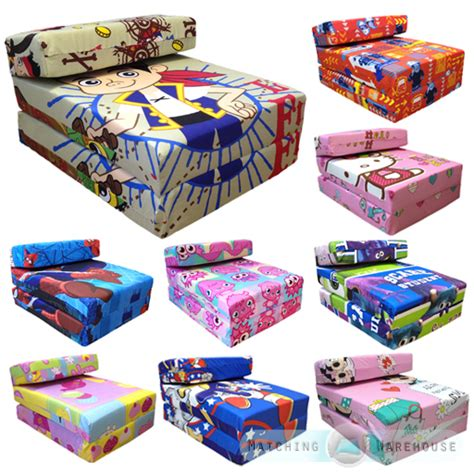 childrens futons children s tv character fold out z bed foam chair futon