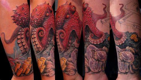 red octopus tattoo 54 amazing sea creature tattoos ideas