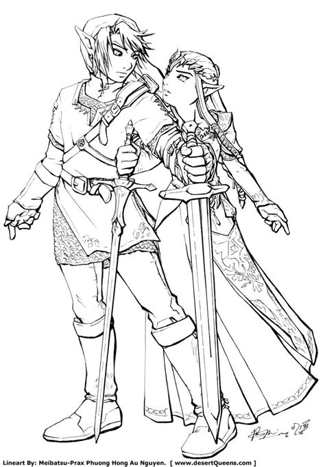 link coloring pages online zelda coloring pages link and zelda by meibatsu fan art