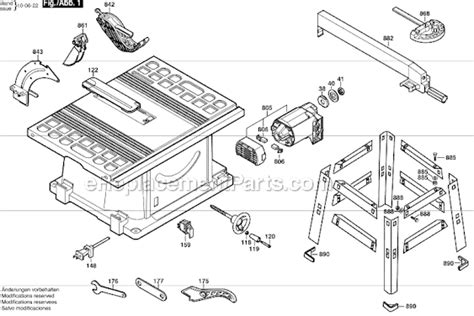 table saw replacement parts skil 3310 parts list and diagram ereplacementparts com