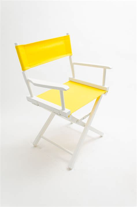 yellow directors chair gold medal directors chair commercial white 18 quot yellow