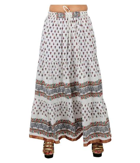 buy drax white cotton maxi skirt at best prices in