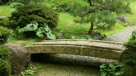 landscaping bridge japanese zen gardens