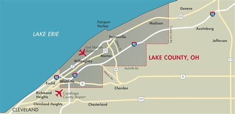 Lake County Regional Office Of Education by Maps Lake County Ohio Port Economic Development Authority