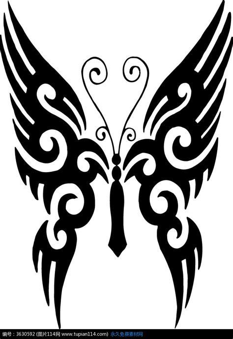 黑色线描图腾蝴蝶韩国矢量动物插画设计素材免费下载 昆虫矢量图eps 图片114