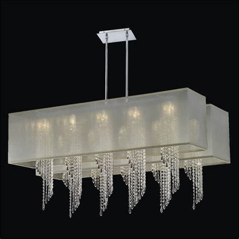 crystal l shade chandelier double rectangular shade chandelier spiral crystal