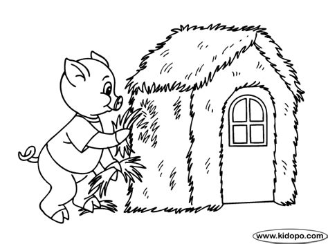 three little pigs houses coloring pages coloring pages