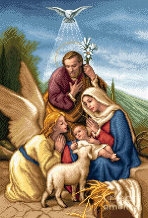 images of family holy family tapestry textile by stoyanka ivanova