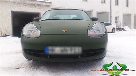 Autofolie Nato Oliv Matt by Porsche Nato Matt Olive Wrappsta Berlin