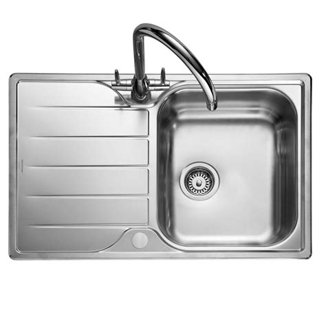 Compact Kitchen Sinks Stainless Steel Rangemaster Michigan Compact Mg8001 Stainless Steel Sink Kitchen Sinks Taps